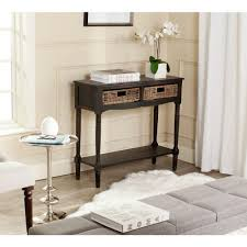 Safavieh American Home Collection Safavieh Cindy Teal Storage Console Table Amh6568h The Home Depot