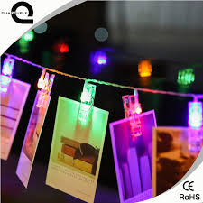 wholesale quadurple mini 10 led battery power clip string lights