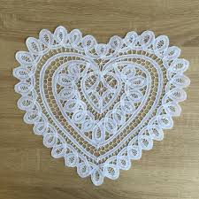 heart shaped doilies doilies made cotton and linen lace crochet doily accent