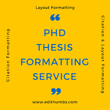 thesis writing help india