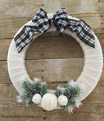 styrofoam wreath diy winter wreath using yarn vintage paint and more