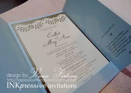 gatefold wedding invitation powder blue chocolate wedding