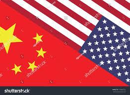 China Flags Usa China Flags Face Face Symbol Stock Illustration 172826552