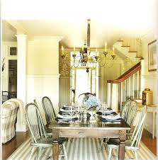 Chic Dining Room by Dark Brown Wooden Dining Table With Grey Metal Chairs On Striped
