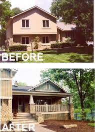front porch designs for split level homes split level exterior remodel before and after spurinteractive