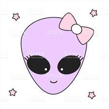 cute cartoon alien vector illustration stock vector art