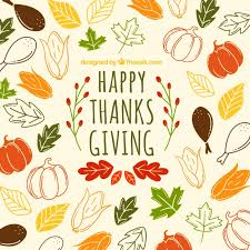 beautiful thanksgiving pattern vector free