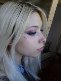 beautiful with butterfly piercing