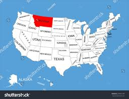 States Map Of Usa by Montana State Usa Vector Map Isolated Stock Vector 309561980