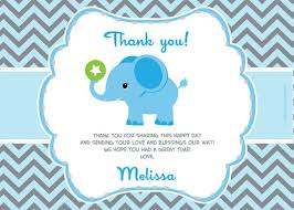 thank you notes for baby shower unbelieveable boy ba shower thank you cards result design