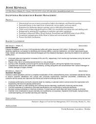 bakery manager cover letter
