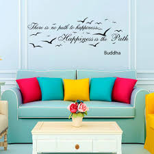 wall decals quotes there is no path to happiness buddha quote yoga wall decals quotes there is no path to happiness buddha quote yoga vinyl sticker wall decor