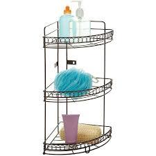 Corner Bathroom Shelving Bath Bliss 3 Tier Corner Bath Shelf Bronze Curls Walmart