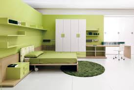 White Wood Blinds Bedroom Green Accents Tie In The Wall Color Without Making The Color