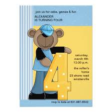 4 years old boy birthday cards u0026 invitations zazzle co uk