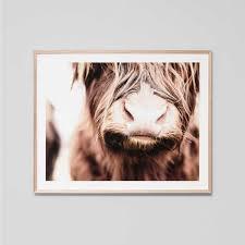 Floor And Decor Almeda Scandinavian Home Decor Scandinavian Print Highland Cow Art Cow
