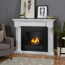 real flame verona 48 inch gel fireplace with mantel white 5420