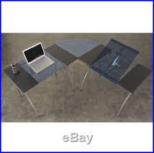 Corner Drafting Table Drafting Table L Shaped Desk Glass Writing Computer Home Office Design