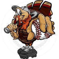 thanksgiving holiday images baseball or softball thanksgiving holiday turkey cartoon vector