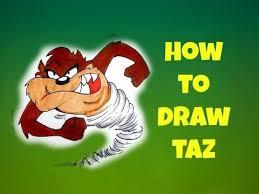 draw taz looney tunes