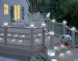 solar powered fence post lights beautiful solar powered deck post lights or solar lighting for deck
