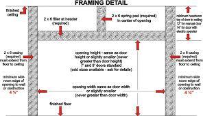 framing garage door opening 28 images how to frame a garage