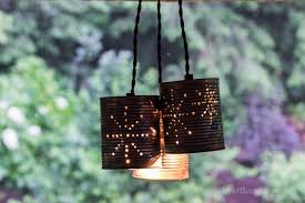 Punched Tin Pendant Light Diy Beautiful Tin Can Pendant Lights