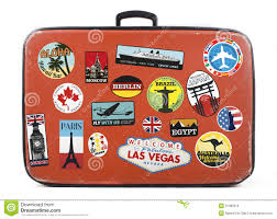 travel stickers images Old suitcase with stickers stock illustration illustration of jpg