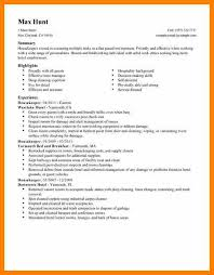 Hospitality Resume Samples by 8 Housekeeping Resumes Samples Character Refence