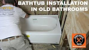 How To Install A Cast Iron Bathtub Bathtub Replacement In Old Bathroom Step By Step