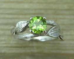 peridot engagement ring peridot engagement ring leaf engagement ring with peridot