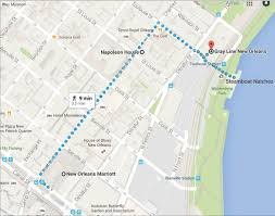 Map New Orleans French Quarter by Ics Tours