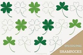 shamrock four leaf clover vector clip design bundles