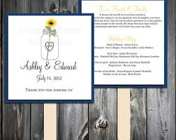 Diy Wedding Program Fans Kits Sunflower Fan Wedding Program