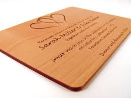 wooden wedding invitations engraved wooden wedding invitation real wood invitation