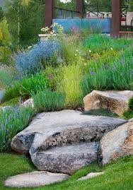 inspired rock garden fashion denver traditional landscape