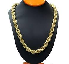 rope chain necklace men images Rope chain link 24ct yellow gold filled twisted womens mens jpg