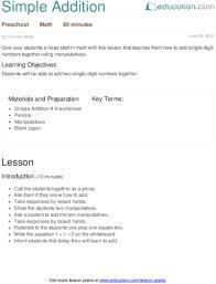 lesson plans for preschool math education com