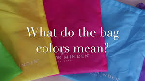 what do different colours mean what do the different bag colors mean youtube