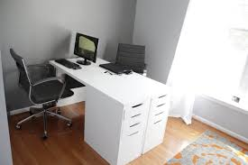 two person desk home office when both my wife and i worked from home i decided to redo the