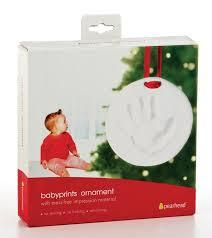 babyprints handprint or footprint ornament baby christmas ornament