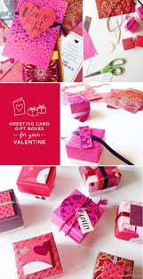 make valentine u0027s day treat boxes out of recycled greeting cards