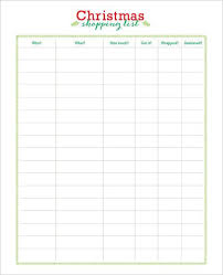 gift shopping list 27 christmas gift list templates free printable word pdf jpeg