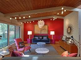 Red Accent Wall by Surprising Living Room With Red Accents Living Room Corner Sofa