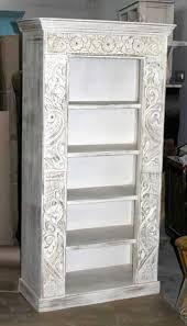 handcarved indian bookshelf whitewash furniture australia