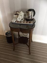Coffee Maker Table Room 11 Mismatched Table Displaying Tea And Coffee Facilities No