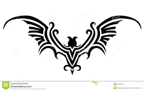 bats stencils free bat tattoo stock photography image 20938732