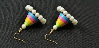make dangle earrings how to make cone pearl dangle earrings with colorful