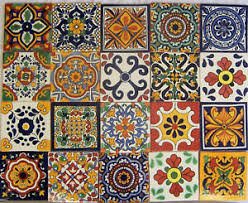 Mexican Talavera TILES Ceramic Mix Patterns X Stairs - Mexican backsplash