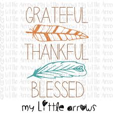 grateful thankful blessed svg dxf eps png files for cutting